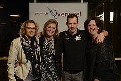 Opening N307/N50 bij Kampen voor de Provincie Overijssel met Olympisch schaatskampioen Stefan Groothuis.